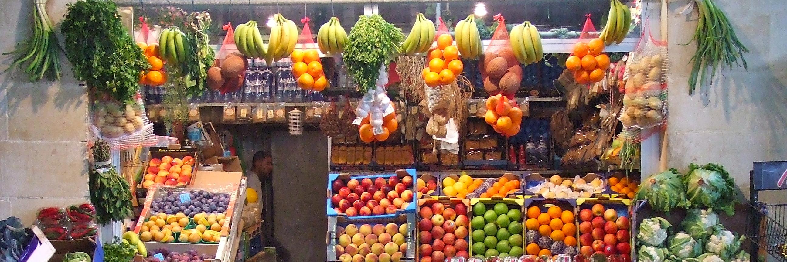 L'étal de fruits et légumes
